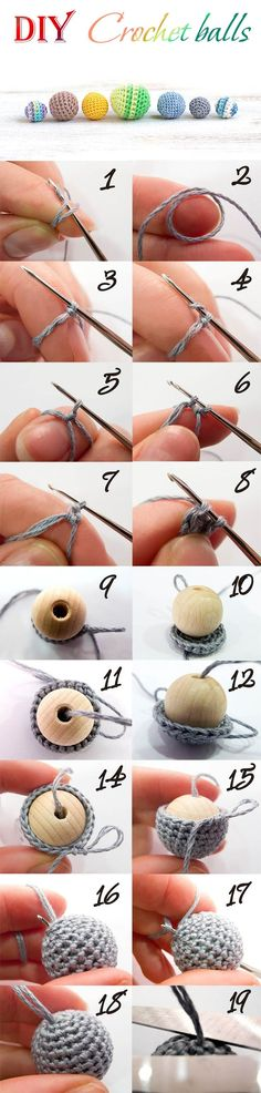 DIY Crochet Balls Tutorial by Useful DIY.  Great for jewelry or toy making.