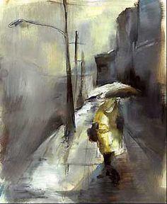 """Rainy Day"" paintings by Seattle artist Jenny Oakley"