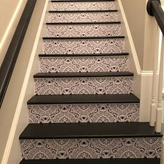 Stair Riser Vinyl Strips Removable Sticker Peel & Stick for 15 steps – farmhouse fireplace tile Tile Decals, Wall Tiles, Vinyl Decals, Tile Stickers Kitchen, Wall Waterproofing, Tile Stairs, Stair Risers, Stair Steps, Kitchen Wallpaper