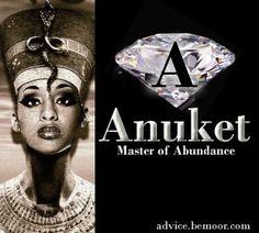 Master of Abundance - Anuket - Prosperity- Kemetic Moorish American