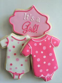 baby girl cookies - onesies
