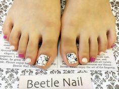 Nail Art - Beetle Nail : arte|フラワーフット