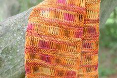 Free knit accent scarf pattern #knit #knitting #pattern
