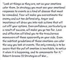 Robert Green's 33 Strategies of War