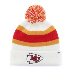 new product 01a74 38747 Kansas City Chiefs Breakaway Cuff Knit White 47 Brand Hat