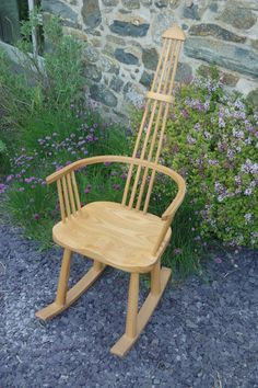 Ash rocking chair inspired by the traditional Welsh stick chair.