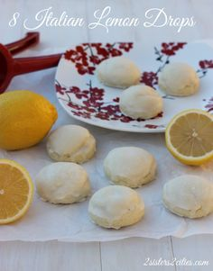 Day 8 of our 12 Days of Christmas Cookies- Italian Lemon Drop Cookies, also known as Lemon Anginetti {from 2 Sisters 2 Cities} #12daysofchristmascookies #christmascookies #christmas