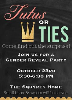 Nellie & Phoeb's: Gender Reveal Party Invitation