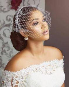 Hausa Belles Love for Ankara is Epic - See Their Gorgeous Ankara Styles - Wedding Digest Naija Black Bridal Makeup, Bridal Hair And Makeup, Backyard Wedding Dresses, African Wedding Dress, Wedding Veils, Wedding Hijab, Wedding Cakes, Civil Wedding, Bride Hairstyles