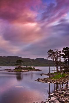 Loch Assynt in Scottish Highlands, UK