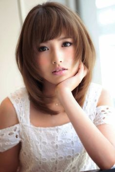 Medium Hairstyles with Bangs for Asian Women
