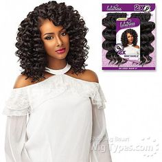 Sensationnel Lulutress Synthetic Braid - DEEP WAVE 8 The color shown in the picture 2 - Pre-Looped Crochet Braid - Beauty is what you Create FEATURES - Soft Texture Natural Luster - Long-Lasting Natural Curl - Easy Styling & Maintenance - Affordable Price Box Braids Hairstyles, Try On Hairstyles, Wedding Hairstyles, Curly Crochet Hair Styles, Short Hair Styles, Deep Wave Crochet Hair, Afro Hair Girl, Box Braids Pictures, Breaking Hair