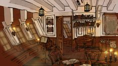 master and commander captains quarters - Google Search