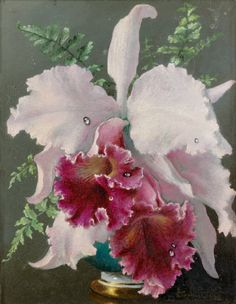 Kai Fine Art is an art website, shows painting and illustration works all over the world. Art Floral, Deco Floral, Flower Of Life, Flower Art, Red Orchids, Art Français, Art Academy, Vase, French Art