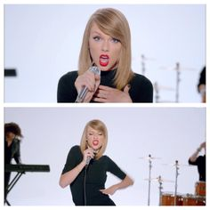 Taylor Swift. long bob. side bangs.