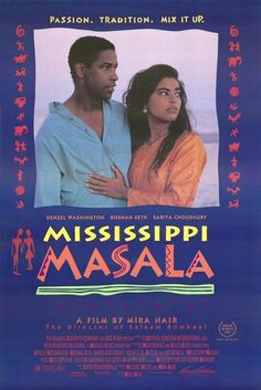 Mississippi Masala is a romantic drama film directed by Mira Nair, based upon a screenplay by Sooni Taraporevala, starring Denzel Washington, Sarita Choudhury, and Roshan Seth. Set primarily in rural Mississippi, the film explores interracial romance between African Americans and Indian Americans in the United States. #MSMovies