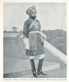 Risaldar-Major Hukam Singh, Sardar Bahadur, 16th Bengal Cavalry. A d C to the Viceroy at 1902 Coronation. 1897 Jubilee