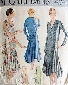 McCall pattern very 1920 s flappers era looking..love it.