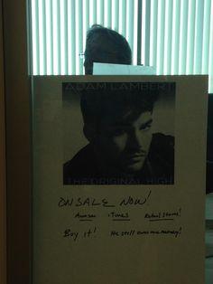 LOL!! Adam Lambert's dad, Eber,  promoting Adam's album The Original High