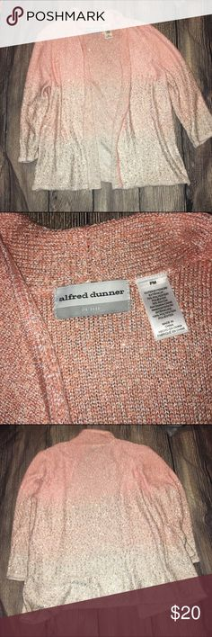 Alfred dinner pink ombré sequin Cardigan No trades Alfred Dunner Sweaters Cardigans