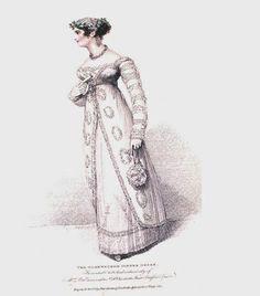 July 1814 Oldenburgh Dinner Dress, Mr Bell, La Belle Assemblee
