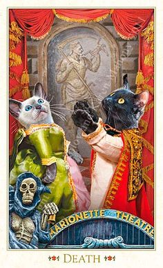 Death The Baroque Bohemian Cats' Tarot Publisher: Magic Realist Press 2004
