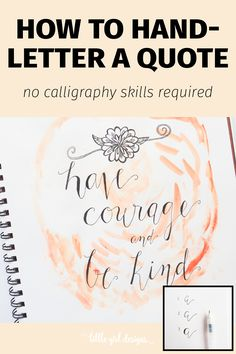 Here's how to faux hand letter a quote—there's no need to learn calligraphy in order to make pretty letters you'll love! :)