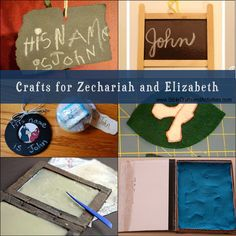 Crafts for Zechariah and Elizabeth -  Day #3
