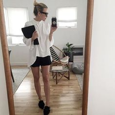 // SHOP NOW: LINK IN PROFILE // MIRROR // MIRROR // @damselindior is the fairest of them all in the Great Heights L/S Top by #finderskeepersthelabel // #BNKR #selfie #minimalist