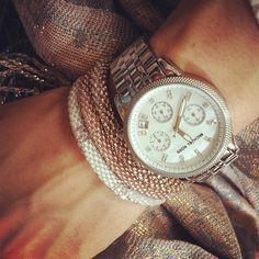 Michael Kors watch & bracelets by Mae Movement (a GREAT cause, check them out!)