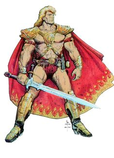 Masters of the Universe concept art by William Stout *
