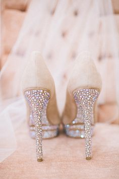 Brian Atwood Heels. Sparkle!! My friend's wedding shoes. Gorgeous. gtl.clothing/... GTL #getthelook