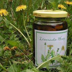 Dandelion jelly recipe- Löwenzahn-Gelee Rezept delicious as a spread or for sweetening tea - Jelly Recipes, Honey Recipes, Chutneys, Dandelion Jelly, Taraxacum Officinale, Garden Seating, Edible Flowers, Diy For Kids, Candle Jars