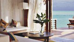 Cocoa Island: Enjoy views of the crystal clear sea from a Loft Villa. Room service? #JSBeachDining