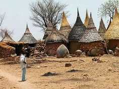 Huts in Cameroon, Africa. African Hut, African Safari, Out Of Africa, West Africa, South Africa, Vernacular Architecture, Art And Architecture, Les Seychelles, Natural Building