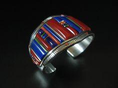 Raymond Yazzie wide inlay bracelet