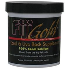 $8.99-$14.99 Fiji Gold Coral and Live Rock Supplement is 100% natural calcium derived from seawater and coral reef substrate. None of the natural resources utilized in this product are derived from living coral. This product can be used effectively to raise calcium, alkalinity and PH levels in your aquarium.Fiji Gold Coral and Live Rock Supplement is beneficial to all organisms especially those t ...