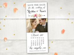 Wedding Save The Date Magnets  MedleyFlorals II  by FifthVintage
