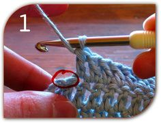 double crochet end of row - click on step-by-step tutorial for more details.