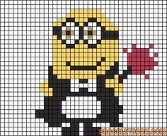 Phil Minion Despicable Me perler bead pattern