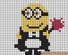 Phil Minion Despicable Me perler bead pattern