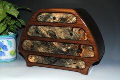 Handmade Wood Bernie Style Jewelry Box in Solid by BurlWoodBox