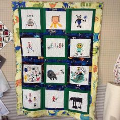 Kids favorite things quilt.  Capture memories that your child creates.  Priceless.