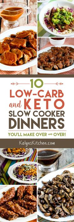 Even after watching This is Us, I'm still a huge fan of using the slow cooker to make healthy low-carb dinners, and here are 10 Low-Carb and Keto Slow Cooker Dinners You'll Make Over and Over! Make a low-carb or Keto slow cooker meal on the weekend and eat it during the week! [found on KalynsKitchen.com] #LowCarb #Keto #LowCarbSlowCooker #KetoSlowCooker