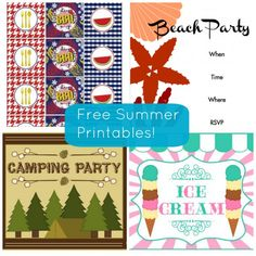 Need free summer printables for your party? #freeprintables #summer #bbq