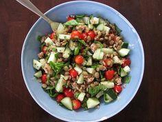 Lentil Tabbouleh Salad for Loma Linda