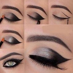 Faded cat eye make up