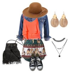 """Goshi"" by ethereal-cassiopeia on Polyvore featuring maurices, Glamorous, RHYTHM, Converse, Alexis Bittar and Forever 21"
