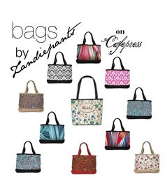 Bags by Zandiepants on Cafepress. Set made by christy-leigh-1 on Polyvore