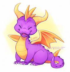 My favorite little dragon / art by lintufriikki Spyro The Dragon, Dragon Art, Chibi, Game Character, Character Design, Skylanders Spyro, Spyro And Cynder, Dragon Illustration, Childhood Games